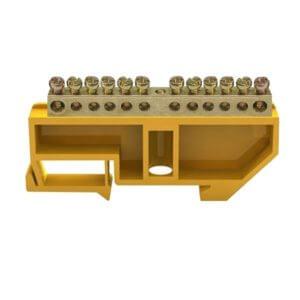 Шина заземляющая ШНИ-6х9-12 желтая