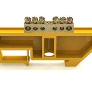 Шина заземляющая ШНИ-6х9-6 желтая