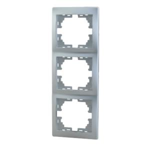 Lezard MIRA рамка 3-я вертикаль Серебро