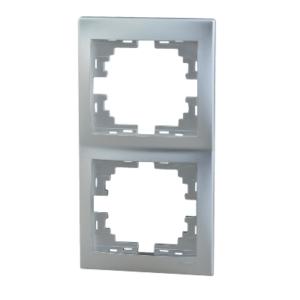 Lezard MIRA рамка 2-я вертикаль Серебро