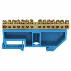 Шина нулевая ШНИ-6х9-14 синяя