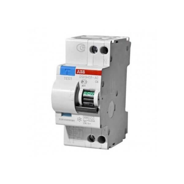 ABB дифференциальный автоматический выключатель DS201 1/16А AC30