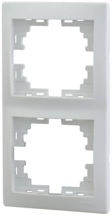 Lezard MIRA рамка 2-я вертикаль белая