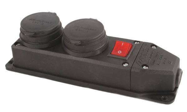 Каучук Колодка 2-я сз с заглушками с выключателем