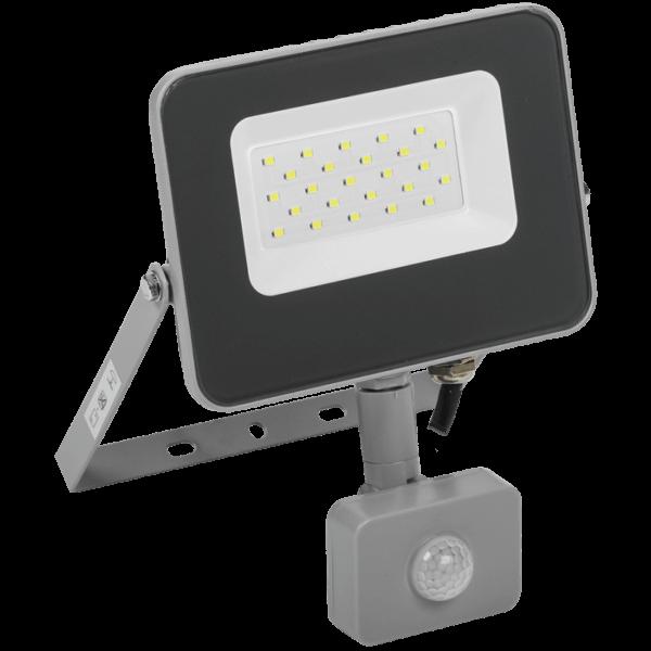 Прожектор СДО 07-20Д LED 20Вт IP44 6500К с датчиком движ. сер. ИЭК
