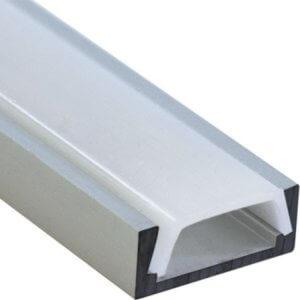 Профиль для ленты плоский узкий 2м комплект 16*6 мм (заглушки+крепеж)