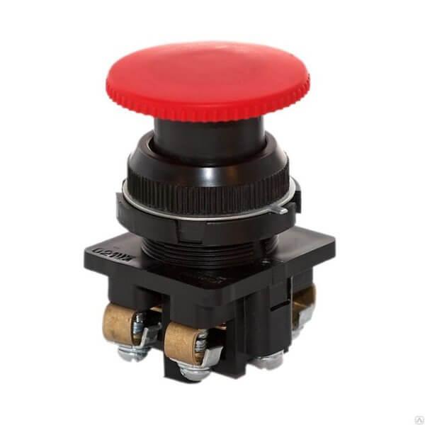 """Кнопка КЕ-021 исп. 2 """"Стоп"""" красн. гриб. Электродеталь КЕ-021.2.К"""
