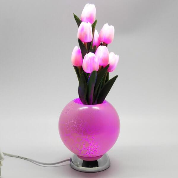 Тюльпаны в вазе 9L Розовый CMR-1077