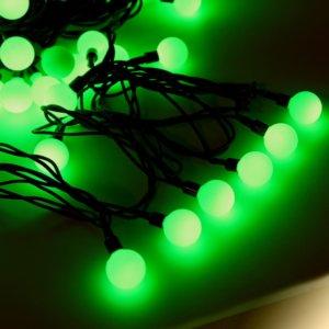 Шарики маленькие 20 LED Зелёный