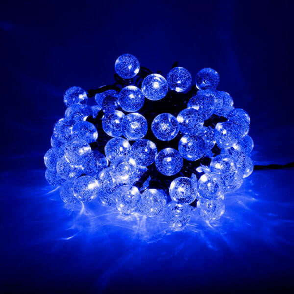 Гирлянда Пузырьковый шар уличная 8м Синий