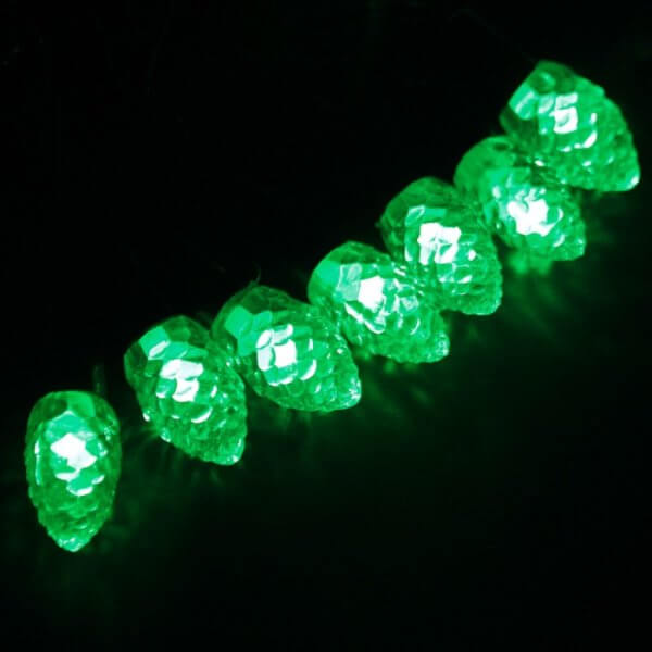 Шишки маленькие 20LED Зелёный