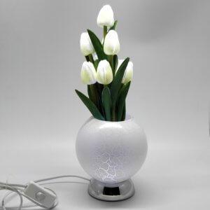 Тюльпаны в вазе 9L Белый CMR-1077