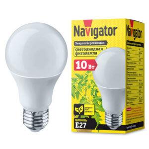 Лампа для растений 10Вт Navigator NLL-FITO-A60-10-230-E27