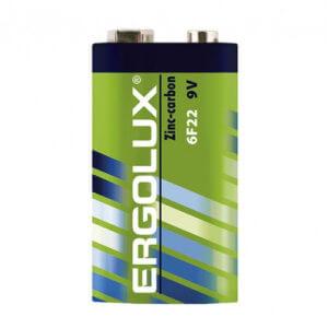 Ergolux 6F22 SR1 (6F22-SP1 батарейка крона 9В)