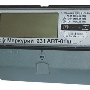 Счетчик электроэнергии Меркурий 231ART-01 Ш 5-60А; 3*230/400В (к.т.1,0/2,0; оптопорт; ЖКИ; DIN)